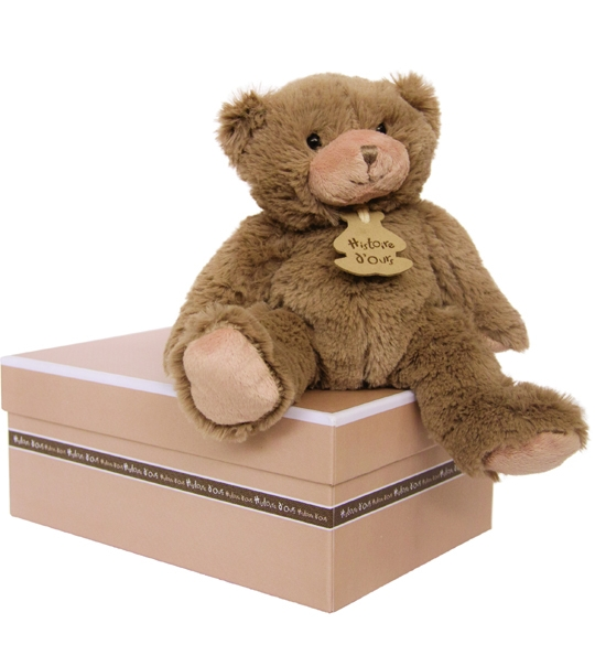 Calin'ours marron 25 cm en peluche