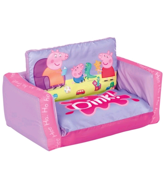 canap lit enfants peppa pig chez doudou. Black Bedroom Furniture Sets. Home Design Ideas