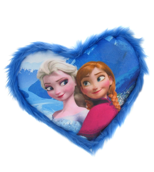 coussin elsa et anna la reine des neiges chez doudou. Black Bedroom Furniture Sets. Home Design Ideas