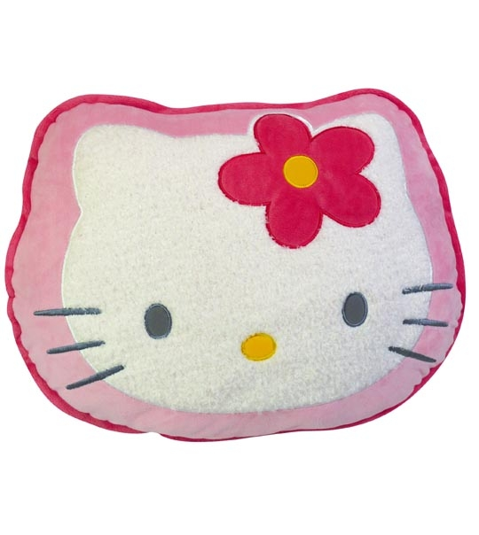 Coussin en peluche hello kitty tete chez doudou - Tete hello kitty ...