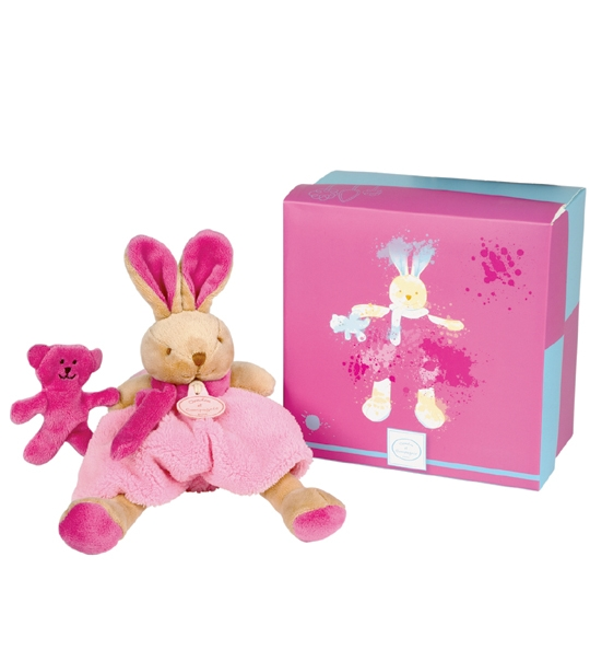 doudou graffitti lapin rose 22 cm chez doudou. Black Bedroom Furniture Sets. Home Design Ideas