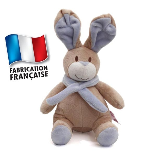 doudou lapin bleu assis 25 cm chez doudou. Black Bedroom Furniture Sets. Home Design Ideas