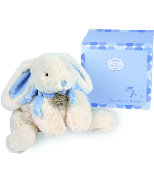 doudou lapin bonbon gm bleu doudou et cie chez doudou. Black Bedroom Furniture Sets. Home Design Ideas