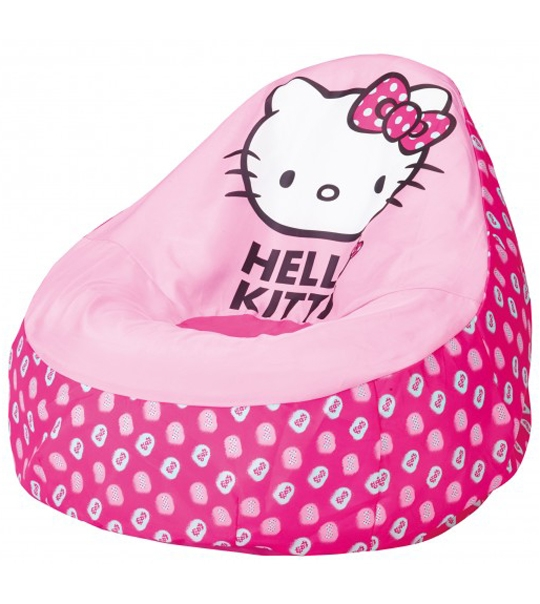 fauteuil poire enfants hello kitty chez doudou. Black Bedroom Furniture Sets. Home Design Ideas