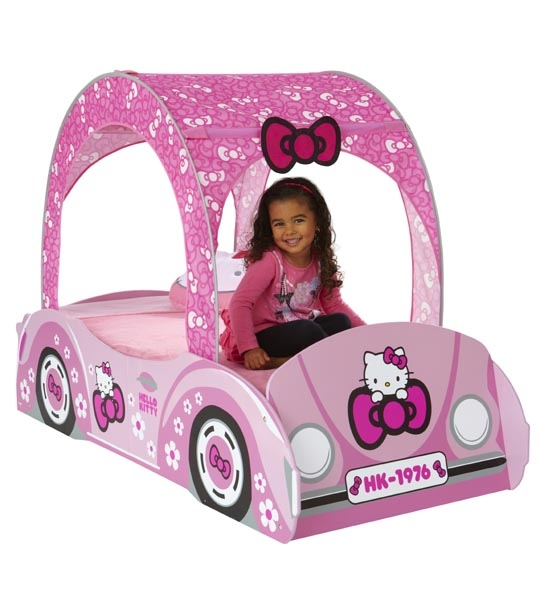 lit enfant hello kitty voiture 140 x 70 chez doudou. Black Bedroom Furniture Sets. Home Design Ideas