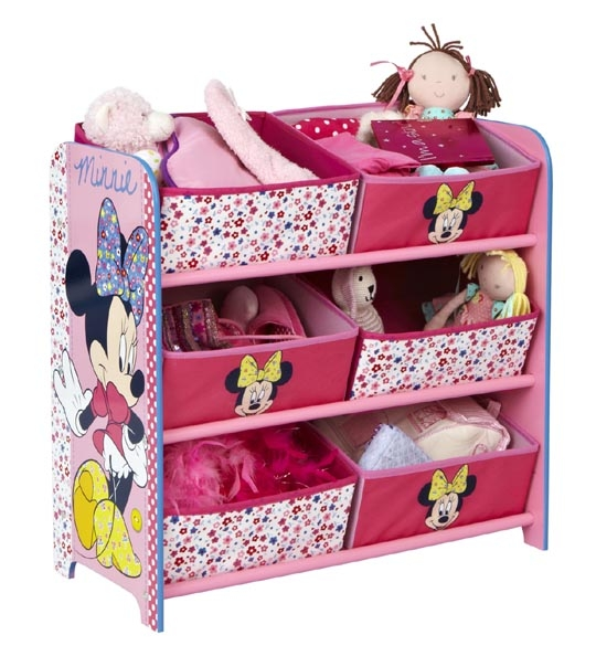 meuble de rangement 6 corbeilles minnie chez doudou. Black Bedroom Furniture Sets. Home Design Ideas