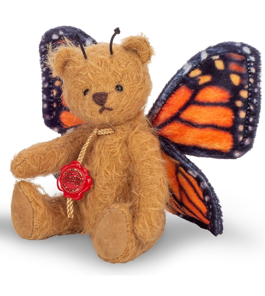 Ours en peluche de collection papillon orange en peluche