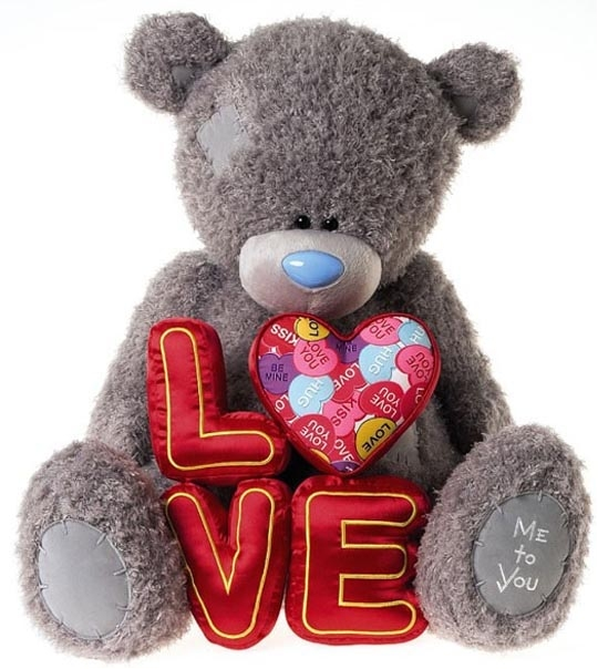 Ours Me to You Love géant 70 cm en peluche