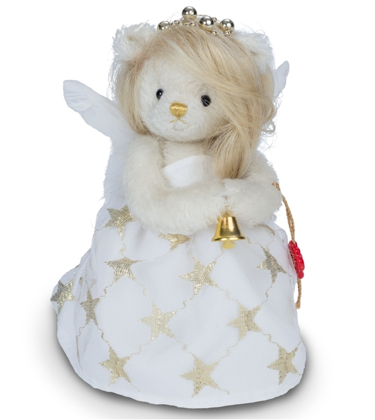 Ours Teddy de collection ange Gloria 18 cm en peluche