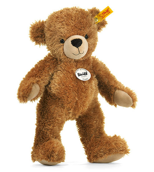 Ours Teddy Happy brun clair 40cm en peluche
