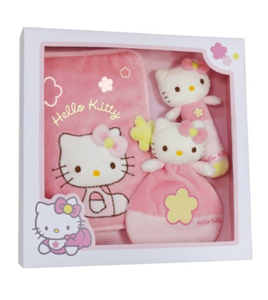 peluche coffret naissance hello kitty baby chez doudou. Black Bedroom Furniture Sets. Home Design Ideas