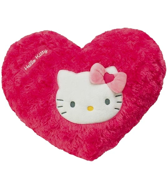 coussin hello kitty Peluche Coussin Hello Kitty coeur rose chez doudou Shop.com coussin hello kitty