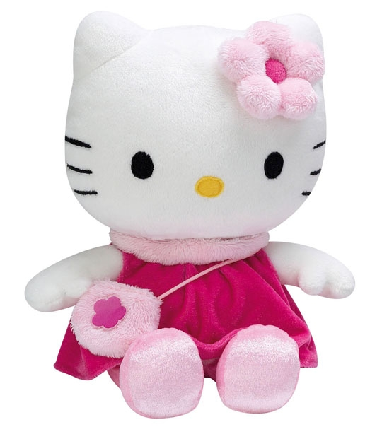 peluche hello kitty rose avec sac main chez doudou. Black Bedroom Furniture Sets. Home Design Ideas