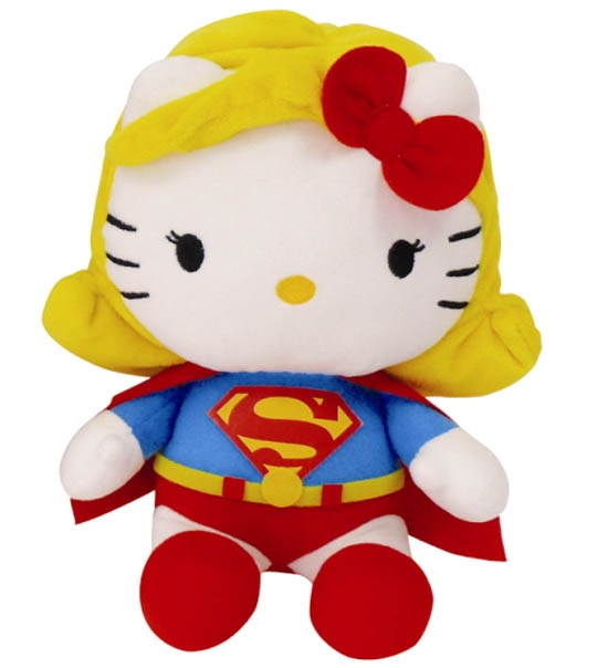 Peluche Hello Kitty Superwoman 27 cm en peluche