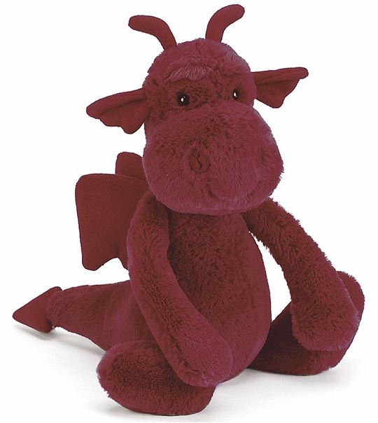 Peluche Jellycat dragon Bashful medium en peluche