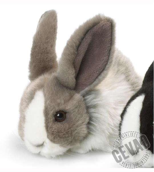 peluche lapin couch 18 cm gris et blanc chez doudou. Black Bedroom Furniture Sets. Home Design Ideas