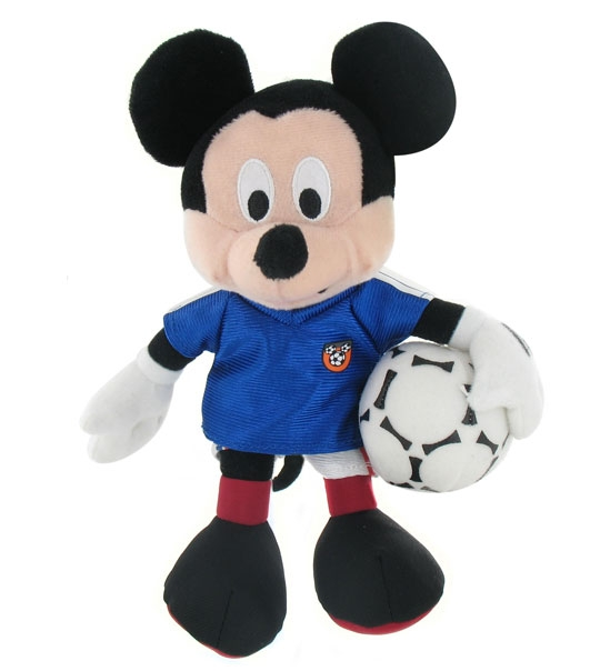 Peluche Mickey football France 20 cm en peluche