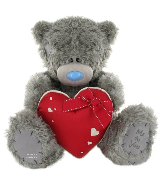 Peluche Ours Me to You 40 cm coeur rouge en peluche