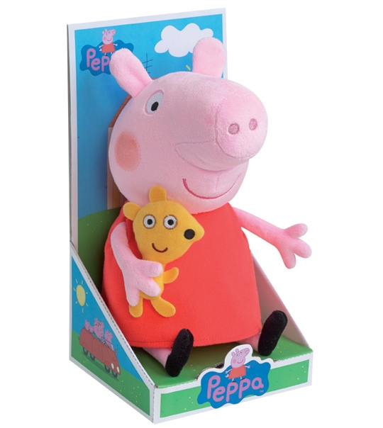 peluche peppa pig 25 cm chez doudou. Black Bedroom Furniture Sets. Home Design Ideas