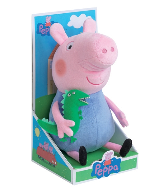 peluche peppa pig georges 25 cm chez doudou. Black Bedroom Furniture Sets. Home Design Ideas