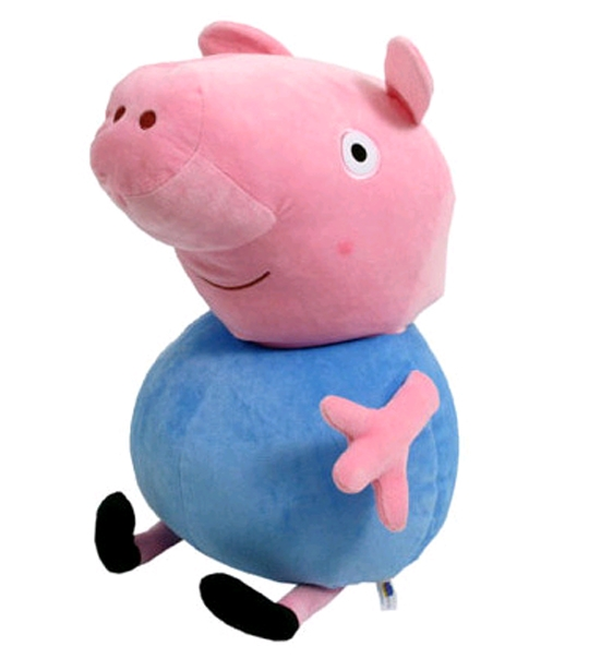 peluche peppa pig georges 43 cm chez doudou. Black Bedroom Furniture Sets. Home Design Ideas
