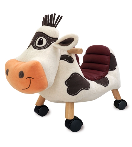 Porteur vache Moobert ride on en peluche