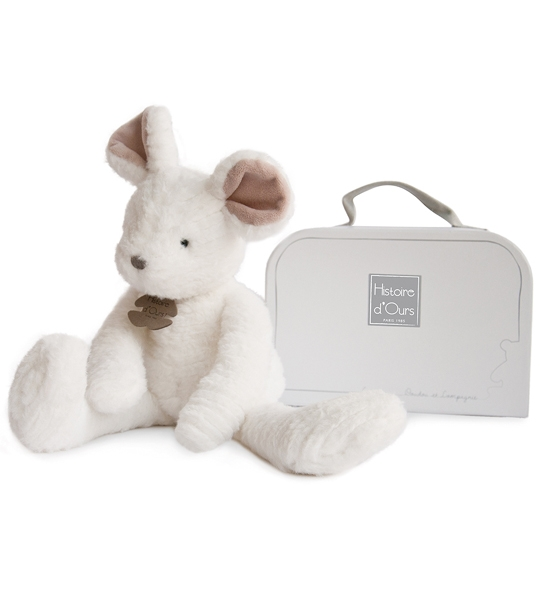 Souris blanche Sweety couture 38 cm en peluche