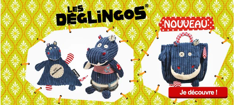 peluches Hippipos le c�l�bre hippopotame de la collection D�glingos