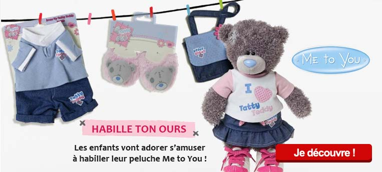 En exclusivit� en France, le premier ours en peluche ME TO YOU � habiller