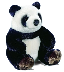 peluche panda assis 27cm chez doudou. Black Bedroom Furniture Sets. Home Design Ideas