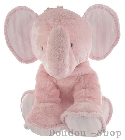 Peluche Grand Elephant rose Tartine et Chocolat