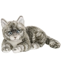 Peluche chat American Shortair gris 25 cm