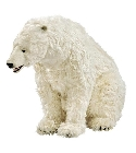 Peluche ours polaire assis 155 cm