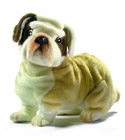 Peluche Chien Bulldog 30cm de long