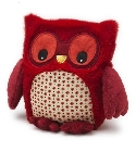 Peluche bouillotte chouette Hooty rouge