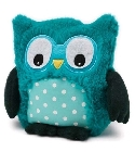 Peluche bouillotte chouette Hooty turquoise