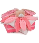 peluche Doudou collector lapin rose