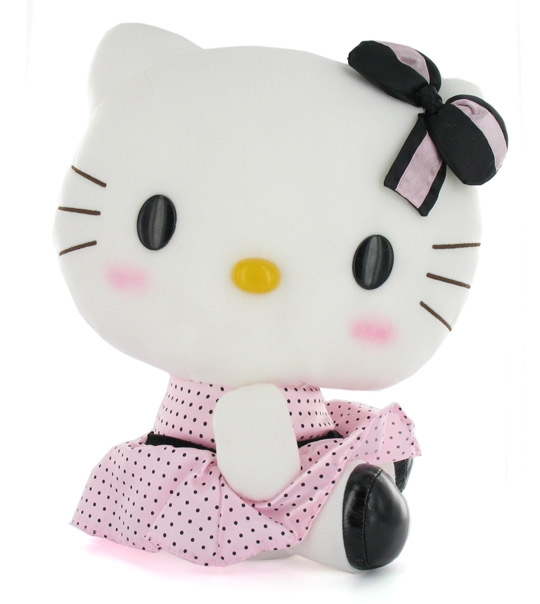 impression de l 39 article hello kitty robe satin rose chez doudou. Black Bedroom Furniture Sets. Home Design Ideas