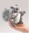 peluche Peluche marionnette mini chinchilla
