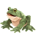 Peluche marionnette crapaud Folkmanis
