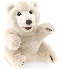 Peluche marionnette ours polaire assis