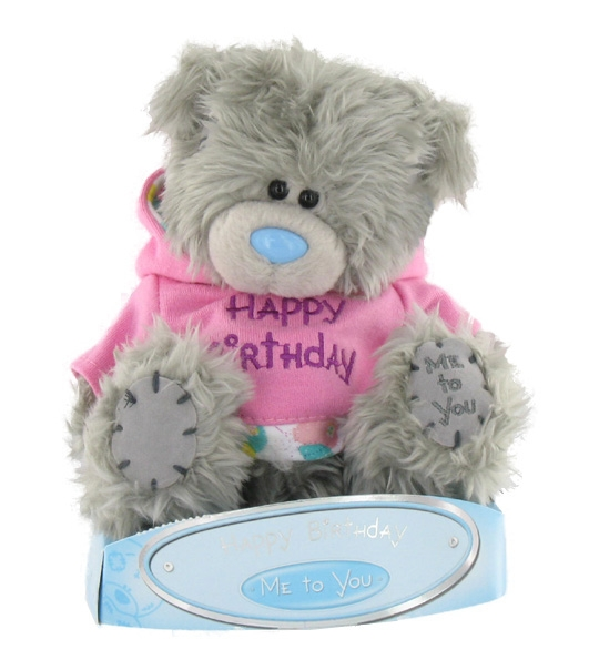 peluche ours me to you 15 cm avec sweat capuche