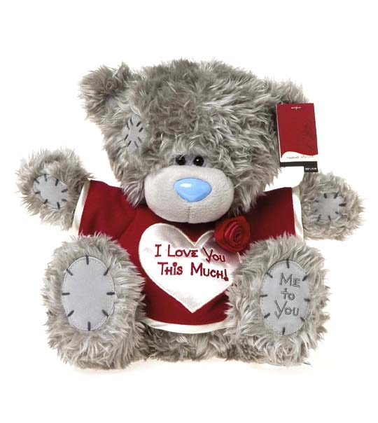 peluche ours me to you 25 cm i love you