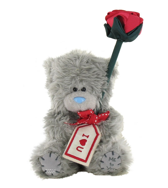 peluche coffret ours me to you avec rose