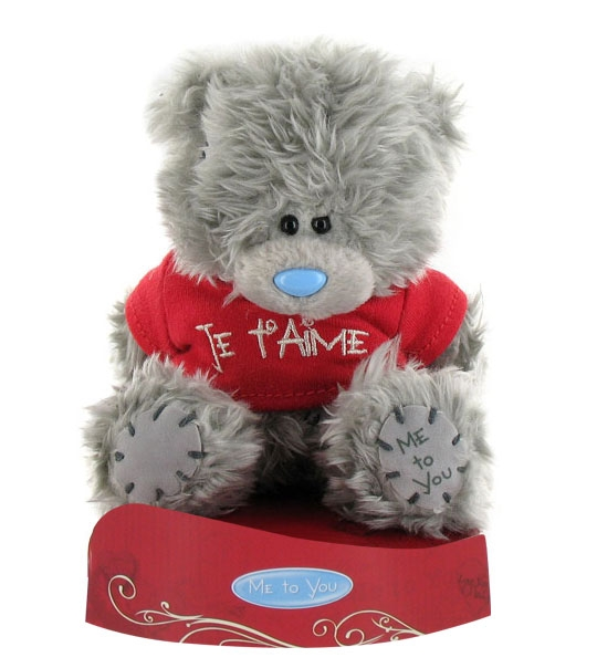 peluche ours me to you 13 cm je taime
