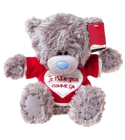 peluche ours me to you 25 cm je taime chez doudou shopcom