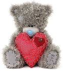 peluche Ours Me to You gros coeur rouge 30 cm