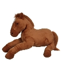 peluche Peluche cheval allong� g�ant marron 115 cm