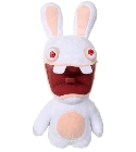 Peluche Lapin crétin sonore rouge 28 cm