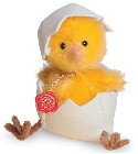 peluche Peluche de collection poussin jaune 11 cm